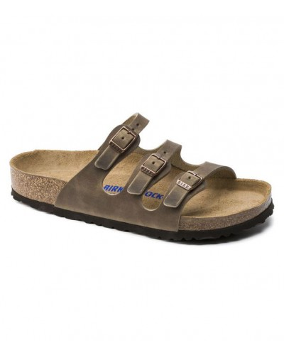 Florida Soft Footbed in Tobacco Oiled Leather Regular Width by Birkenstock