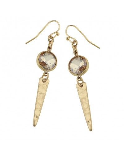 Spear Linked Drop Earrings in Champagne Glass by Canvas Jewelry