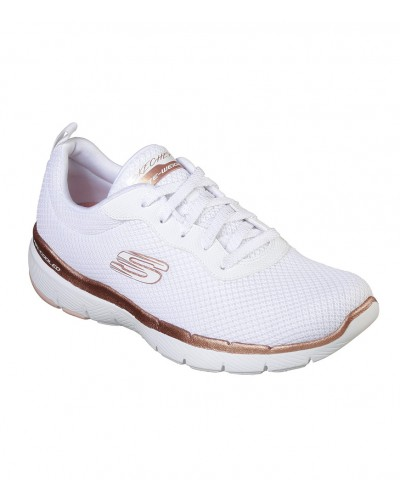 Flex Appeal 3.0 First Insight in White/Rose Gold by Skechers