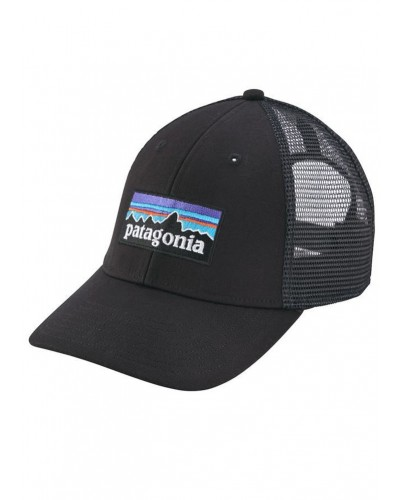 P-6 Logo LoPro Trucker Hat in Black by Patagonia