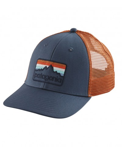 Line Logo Badge Pro Trucker Hat in Dolomite Blue by Patagonia