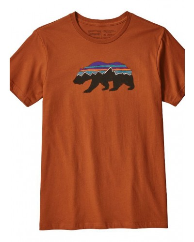 Men's Fitz Roy Bear Organic T-Shirt in Copper Orr by Patagonia