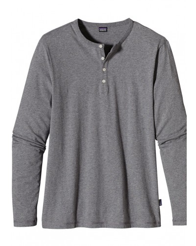 Men's Daily Henley in Feather Grey by Patagonia