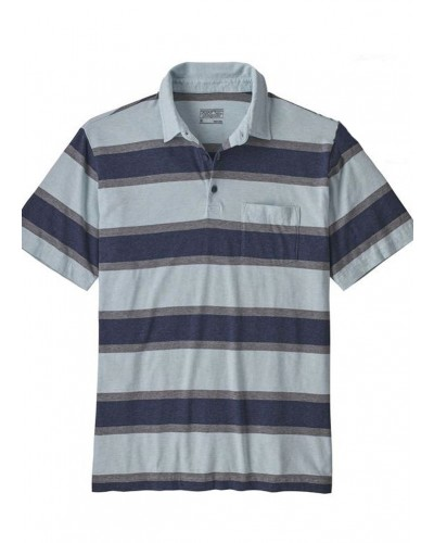 Men's Squeaky Clean Polo in Rugby Stripe: Atoll Blue by Patagonia