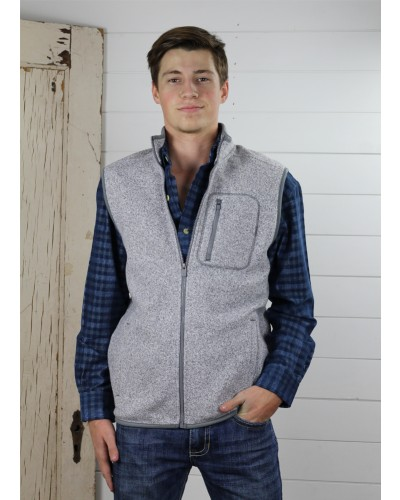 Polyester Vest in Light Grey Heather by Chaps