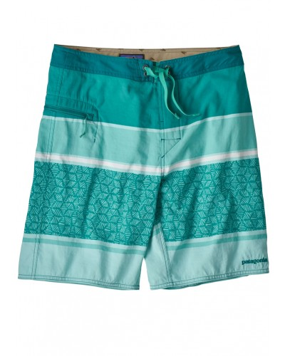 Men's Wavefarer Boardshorts in Batik Hex Stripe: Bend Blue by Patagonia