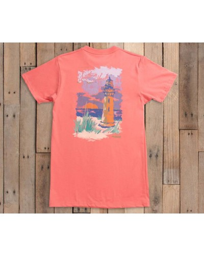 Southern Horizons-Lighthouse in Azalea by Southern Marsh