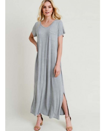 S/S Washed Maxi Dress in Light Sage by Jodifl