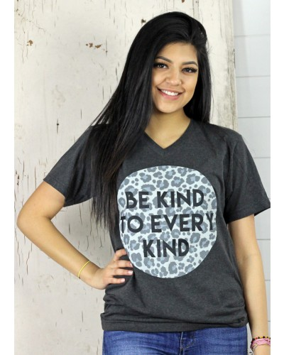 Be Kind Tee in Dark Grey by Oliver and Otis