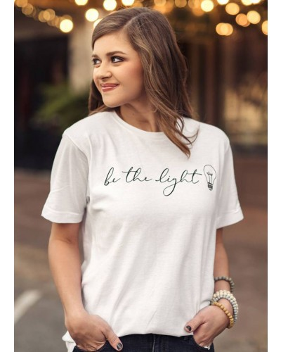 S/S Be The Light Tee in White by Crazy Cool Threads