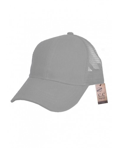 CC Brand Pony Cap w/Mesh in Grey by Hana