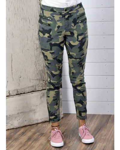 Moto Pant in Olive Camo by Umgee