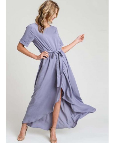 S/S Maxi Dress in Orchid