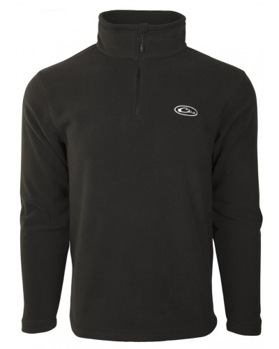 Camp Fleece 1/4 Zip in Black by Drake