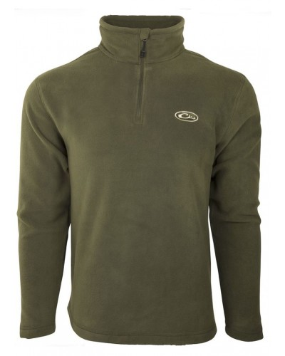 1/4 Zip Camp Fleece in Green by Drake