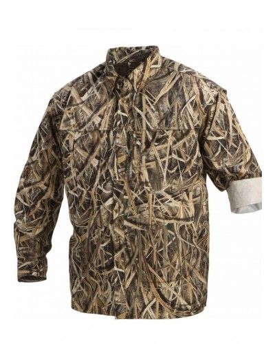 L/S Wingshooter Shirt In Mossy Oak Blades by Drake