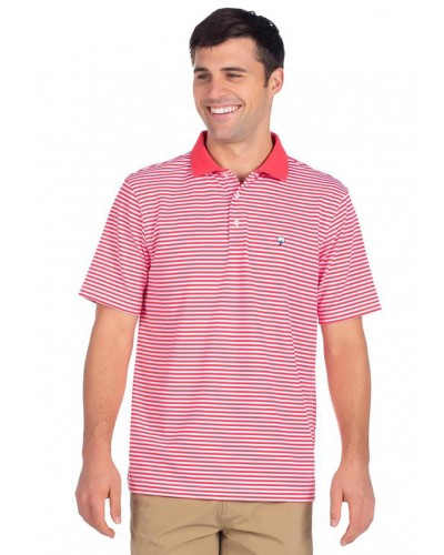 Folly Beach Pique Polo in Paradise Red by Southern Shirt
