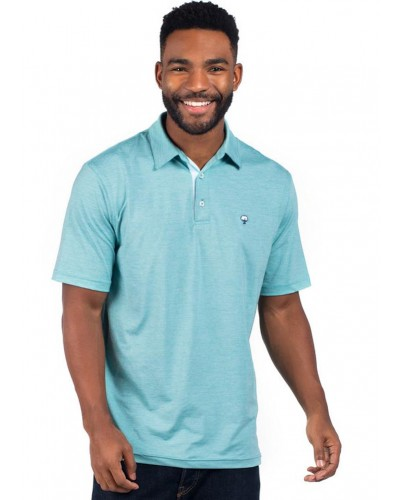 Grayton Heather Polo in Sea Mist by Southern Shirt