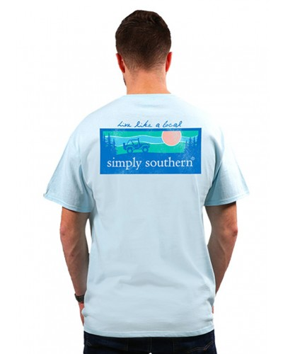 Mens Outdoor Logo Tee in Ice by Simply Southern