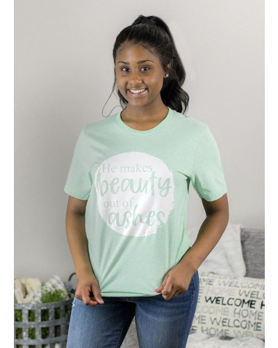 He Makes Beauty Tee in Mint by Truelove