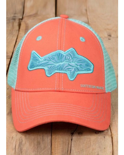 Trucker Hat-Delta in Coral by Southern Marsh