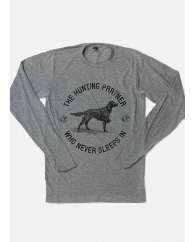 L/S The Hunting Partner Tee in Grey by Wholesale Hobby Life