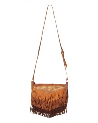 Golden Age Saddle Bag in Tan by Big Budda