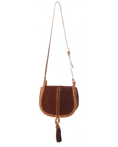 Unicorn Suede Saddle Bag in Tan by Steve Madden