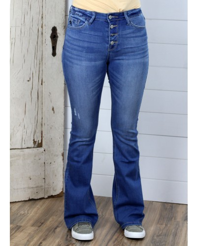 High Rise Bootcut Jean in Medium by KanCan