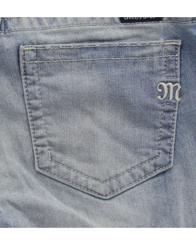 Mid-Rise Flare Denim Jean in Med 410 by Miss Me