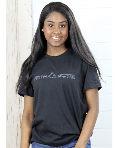S/S Mountain Mover Tee in Black by Crazy Cool Threads