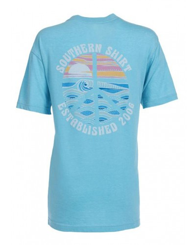 S/S Peace of Paradise Tee in Backstage Blue by Southern Shirt