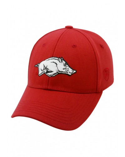 Memory Fit Arkansas Hat-One Fit-Team Color by Top of the World