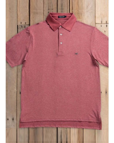 Rutledge Heather Polo in Maroon by Southern Marsh