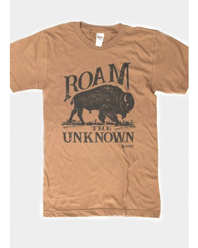 S/S Roam the Unknown Tee in Camel by Wholesale Hobby Life