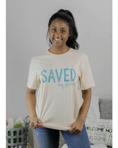 Saved by Grace Tee in Natural by Truelove