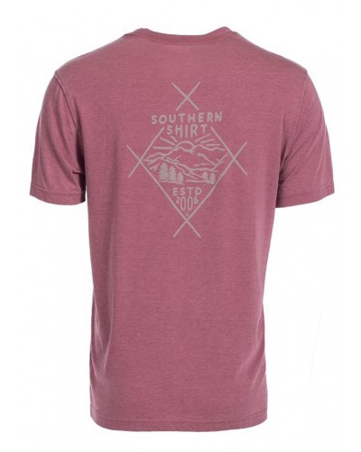 Men's S/S Smoky View Tee in Weathered Red by Southern Shirt
