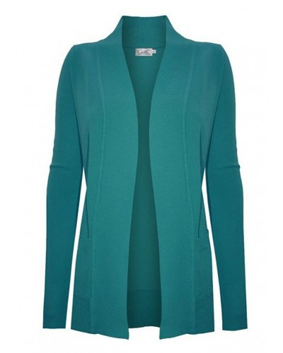 Chloe Pocket Cardigan in Deep Green