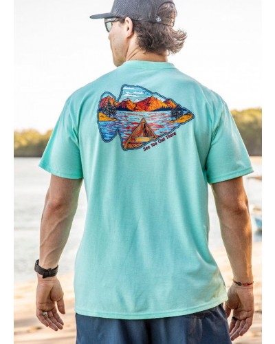 S/S See You Out There Tee in Heather Island Reef by Burlebo