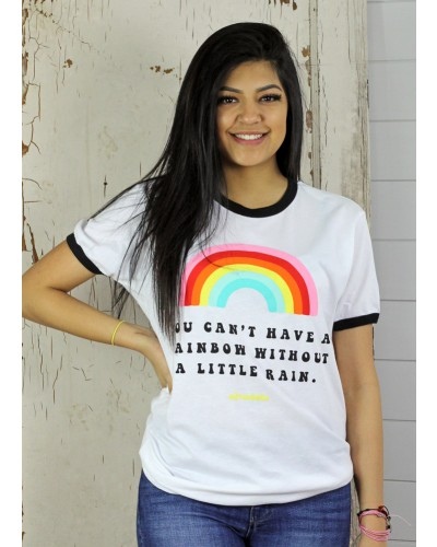Rainbow Tee in White by Oliver and Otis