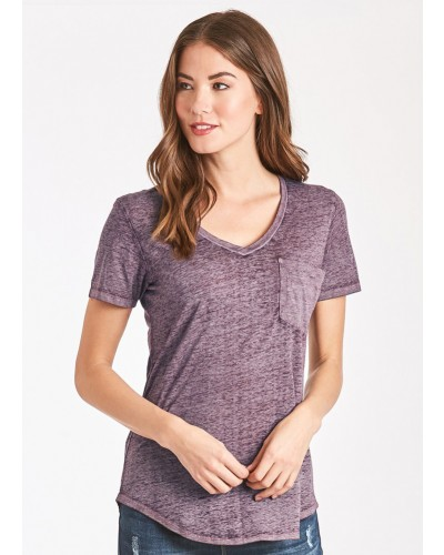 S/S Phoenix Burnout Tee in Orchid by Another Love