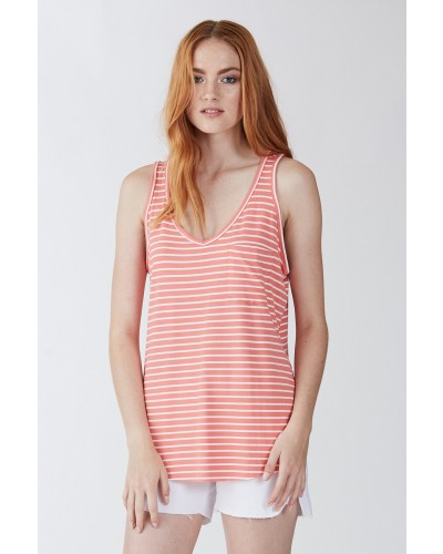 Rebecca Top Coral/White by Another Love